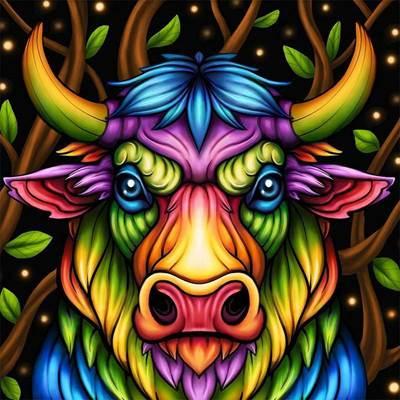 Изображение Радужный бык